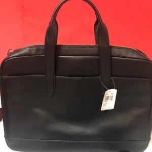 Coach Leather Computer Black Bag unisex